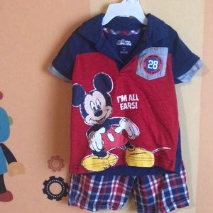 Mickey Mouse Disney short set. Size 2T